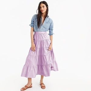 J. CREW | SP 18 tiered pioneer full skirt lilac 2p
